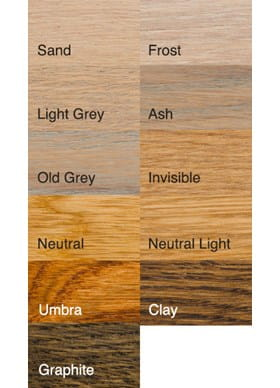Parket kleuren / Bona graft olie kleuren