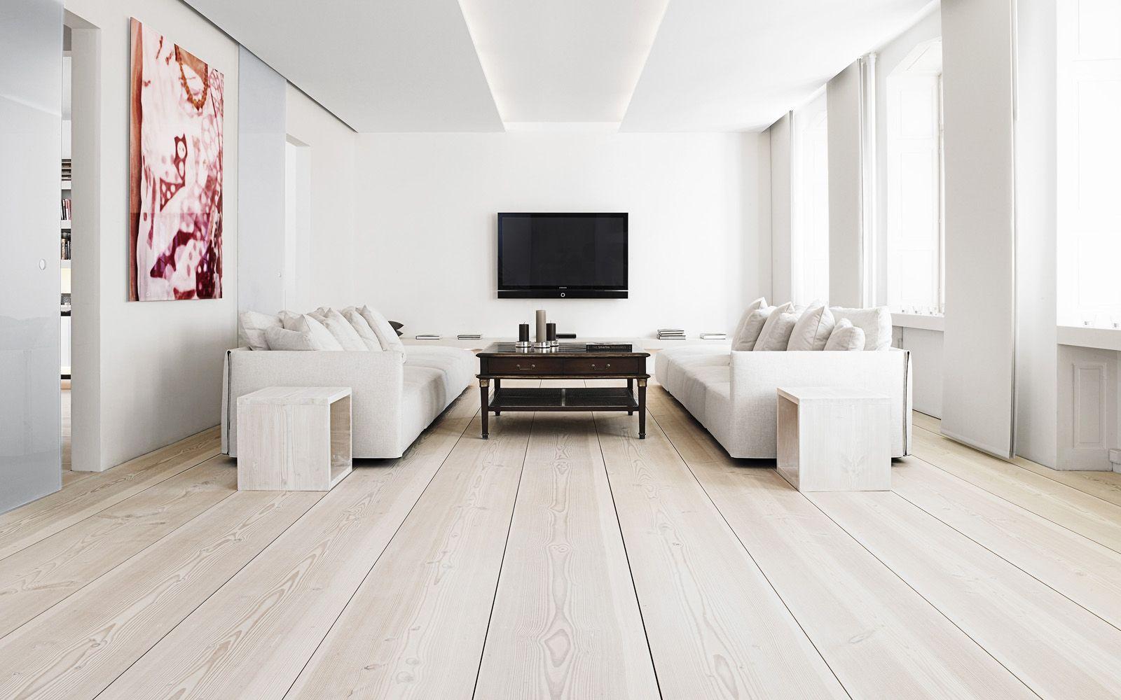 Grenen vloer white wash